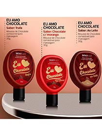 Eu Amo Chocolate - Gel Comest�vel para Massagem - Chocolate com Morango